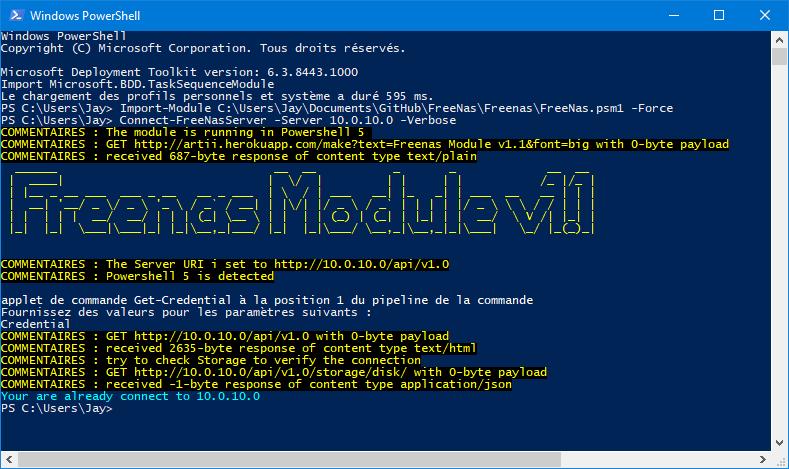 Powershell Module for FreeNas and TrueNas servers